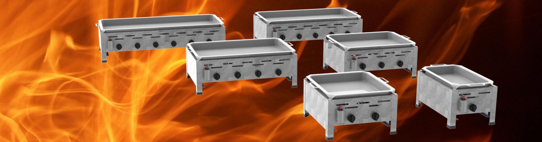 Tisch-Gastrobräter mit Pfanne 1-flammig bis 6-flammig