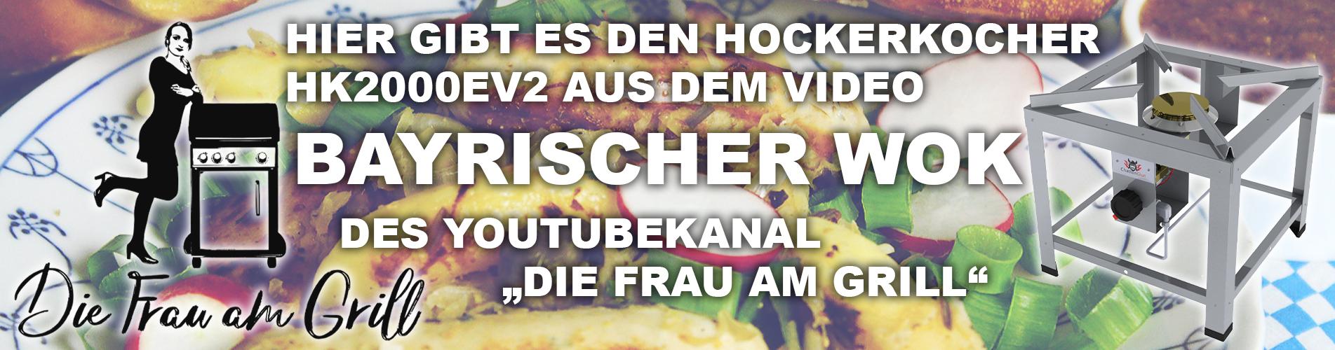 Bayrischer WOK: Der Hockerkocher HK2000EV2