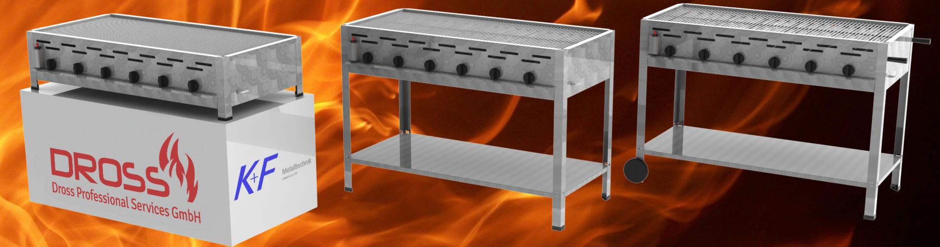 Gastrobräter als Tischgerät, Standgerät oder Standgerät mit Rollen