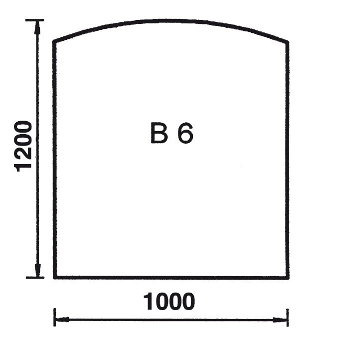 Bodenplatte Bogen B6
