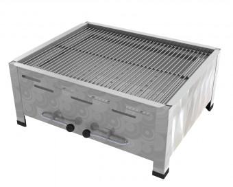 3er Tisch-Holzkohlebräter mit 3-fach verstellbarem Kohlekasten