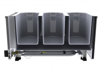 ChattenGlut Gas Wurstwärmer / Bain Marie doppelwandig für GN-Behälter