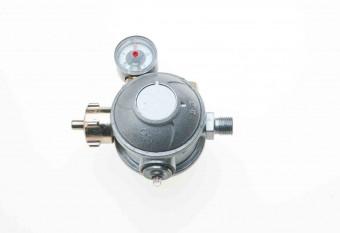 Gewerbe Niederdruck Gasregler zweistufig mit Manometer 30 mbar
