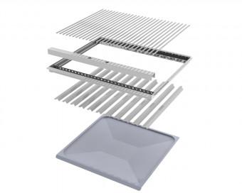 Nachrüstset 4-teilig V2A Rost Einzelstäbe, Rahmen, Flammbleche und Fettwanne