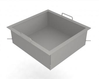 Stahlpfanne Sondergröße 150mm