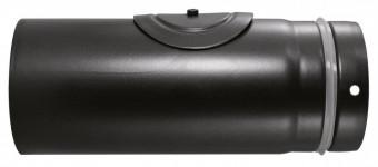 Pellet-Rohr mit Revisionsöffnung Schwarz emailliert 250 mm